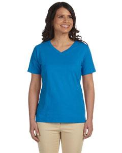 Cobalt Women's Combed Ringspun Jersey V-Neck T-Shirt