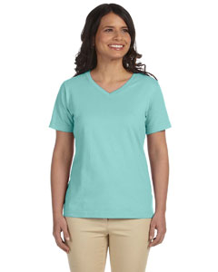 Chill Women's Combed Ringspun Jersey V-Neck T-Shirt