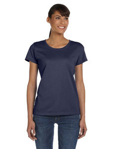 J Navy Women's 5 oz., 100% Heavy Cotton HD™ T-Shirt
