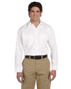 White Men's 4.25 oz. Industrial Long-Sleeve Work Shirt