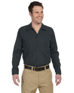 Charcoal Men's 4.25 oz. Industrial Long-Sleeve Work Shirt