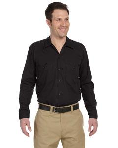 Black Men's 4.25 oz. Industrial Long-Sleeve Work Shirt