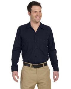 Dark Navy Men's 4.25 oz. Industrial Long-Sleeve Work Shirt