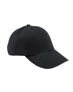 Black 6-Panel Low-Profile True Color Twill Cap