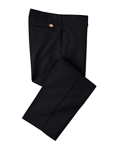 Black 34 Men's 7.75 oz. Industrial Flat Front Pant