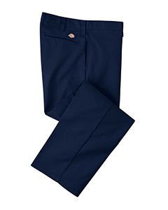 Navy 34 Men's 7.75 oz. Industrial Flat Front Pant