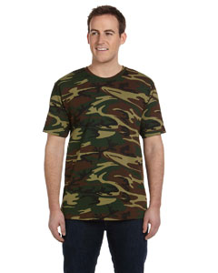 Green Woodland Adult Camouflage T-Shirt