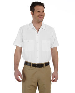 White Men's 4.25 oz. Industrial Short-Sleeve Work Shirt