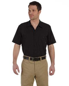 Black Men's 4.25 oz. Industrial Short-Sleeve Work Shirt