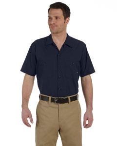 Navy Men's 4.25 oz. Industrial Short-Sleeve Work Shirt
