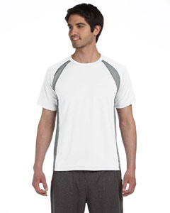 White/grey/slate Men's Colorblocked Short-Sleeve T-Shirt