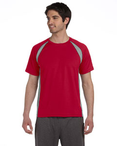 Sp Scr Rd/gy/slt Men's Colorblocked Short-Sleeve T-Shirt