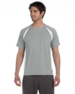 Grey/white/slate Men's Colorblocked Short-Sleeve T-Shirt