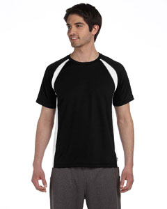 Black/white/grey Men's Colorblocked Short-Sleeve T-Shirt