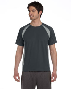Slate/grey/white Men's Colorblocked Short-Sleeve T-Shirt