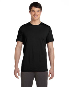 Black Men's Dri-Blend Short-Sleeve T-Shirt