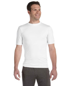 White Men's Compression Short-Sleeve T-Shirt