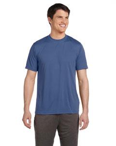 Heather Navy Unisex Performance Short-Sleeve T-Shirt