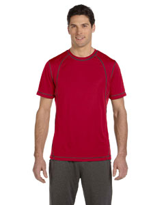 Sp Scar Red/sla Men's Short-Sleeve Interlock Pieced T-Shirt