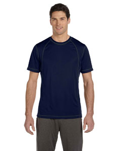 Dark Navy/slate Men's Short-Sleeve Interlock Pieced T-Shirt
