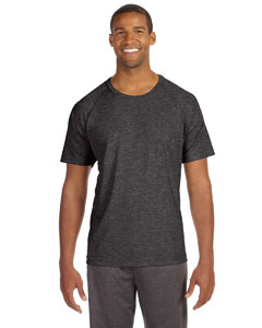 Dk Grey Heather Men's Performance Short-Sleeve Raglan T-Shirt