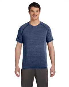 Navy Hthr Trblnd Men's Performance Triblend Short-Sleeve T-Shirt