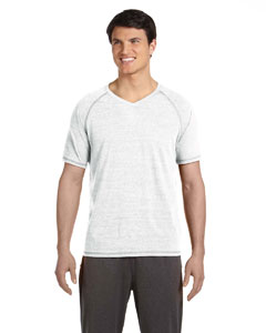 White Hthr Trblnd Men's Performance Triblend Short-Sleeve V-Neck T-Shirt