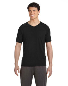 Solid Black Trblnd Men's Performance Triblend Short-Sleeve V-Neck T-Shirt