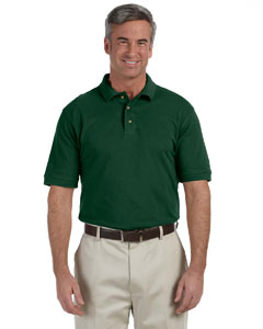 Dark Green Men's 6 oz. Ringspun Cotton Piqué Short-Sleeve Polo