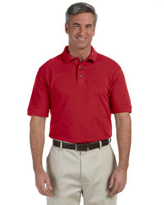 Red Men's 6 oz. Ringspun Cotton Piqué Short-Sleeve Polo