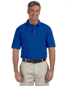 True Royal Men's 6 oz. Ringspun Cotton Piqué Short-Sleeve Polo