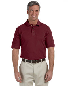 Wine Men's 6 oz. Ringspun Cotton Piqué Short-Sleeve Polo