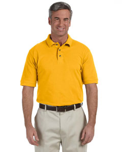 Sunray Yellow Men's 6 oz. Ringspun Cotton Piqué Short-Sleeve Polo