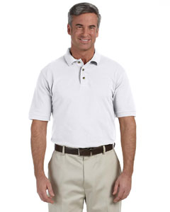 White Tall 6 oz. Ringspun Cotton Piqué Short-Sleeve Polo