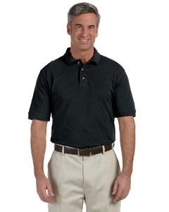 Black Tall 6 oz. Ringspun Cotton Piqué Short-Sleeve Polo