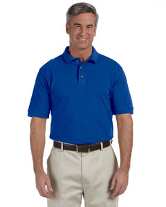 True Royal Tall 6 oz. Ringspun Cotton Piqué Short-Sleeve Polo