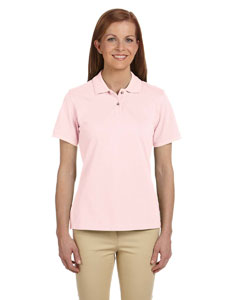 Blush Women's 6 oz. Ringspun Cotton Piqué Short-Sleeve Polo