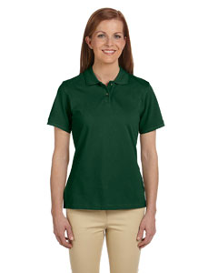 Dark Green Women's 6 oz. Ringspun Cotton Piqué Short-Sleeve Polo