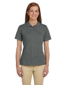 Charcoal Women's 6 oz. Ringspun Cotton Piqué Short-Sleeve Polo