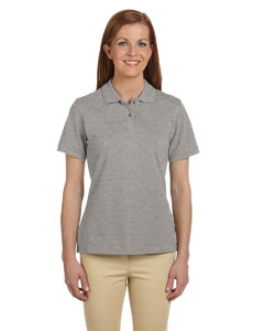 Grey Heather Women's 6 oz. Ringspun Cotton Piqué Short-Sleeve Polo