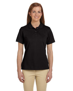 Black Women's 6 oz. Ringspun Cotton Piqué Short-Sleeve Polo