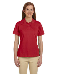 Red Women's 6 oz. Ringspun Cotton Piqué Short-Sleeve Polo