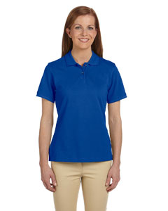 True Royal Women's 6 oz. Ringspun Cotton Piqué Short-Sleeve Polo