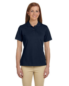 Navy Women's 6 oz. Ringspun Cotton Piqué Short-Sleeve Polo