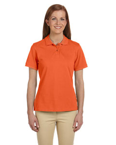 Team Orange Women's 6 oz. Ringspun Cotton Piqué Short-Sleeve Polo