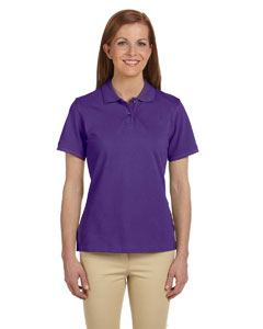 Team Purple Women's 6 oz. Ringspun Cotton Piqué Short-Sleeve Polo