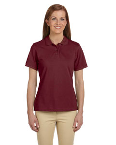 Wine Women's 6 oz. Ringspun Cotton Piqué Short-Sleeve Polo