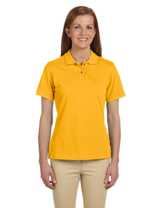 Sunray Yellow Women's 6 oz. Ringspun Cotton Piqué Short-Sleeve Polo