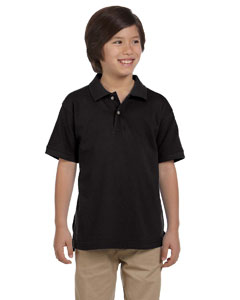 Black Youth 6 oz. Ringspun Cotton Piqué Short-Sleeve Polo