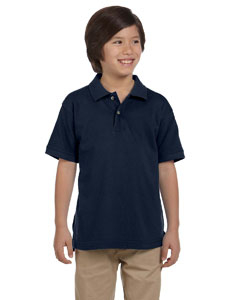 Navy Youth 6 oz. Ringspun Cotton Piqué Short-Sleeve Polo